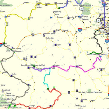 [gallery] Basic concept of the route thus far.   The different colors