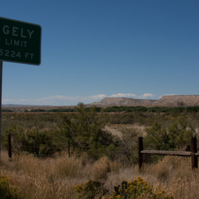On the way into Rangely