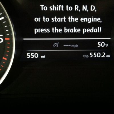 550 MI on a tank... not bad!