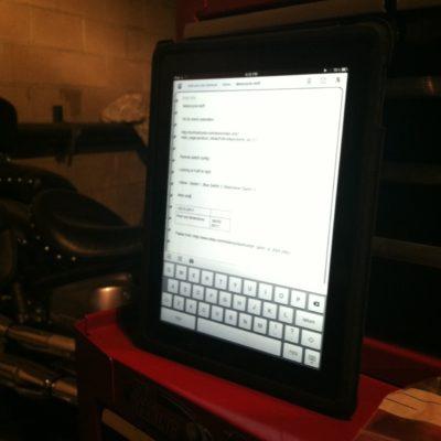 The universal tool - iPad.