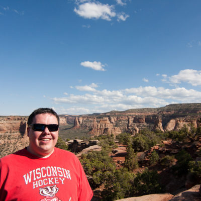 Me in front of Monument Canyon