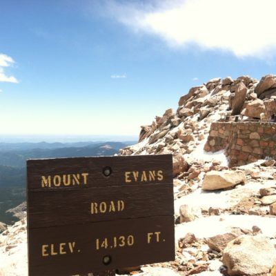 Mt Evans, and Mtn Goats on the rock