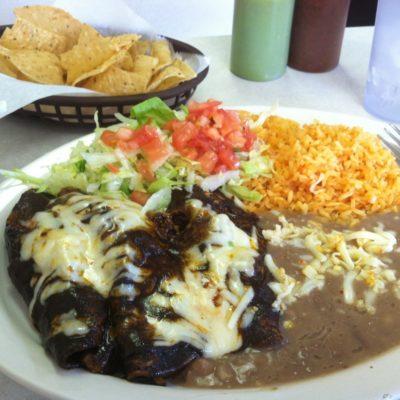 Chicken Mole Enchiladas - superb!