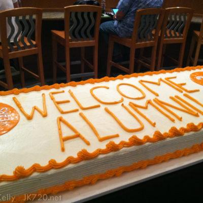 The Alumni Lounge was nice
