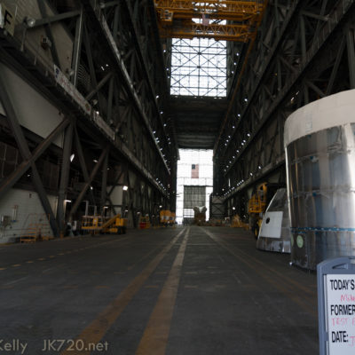 Walking into the VAB