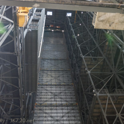 """High bay 2 with the """"Egg Crate"""" to left"""