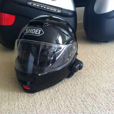 New helmet + Sena Comm unit.