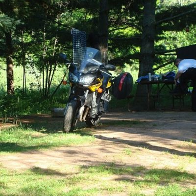 Camping at Madeline Island