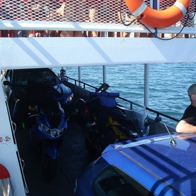 Bikes on the Ferry to Madeline Island