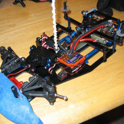 Upgraded 1/12th to a PRC Quad 12 chassis, and a Team One stock motor.