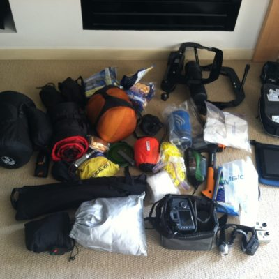 ~90% of the gear being taken along on the trip.