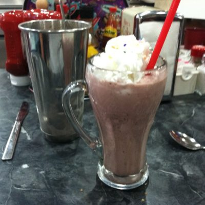 Proper end to a long hot day. @ a 50's diner off old rt66 in flagstaff