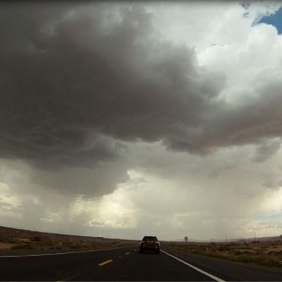 from gopro video, riding into a nice deluge.  it was quite refreshing, until the lightning :)