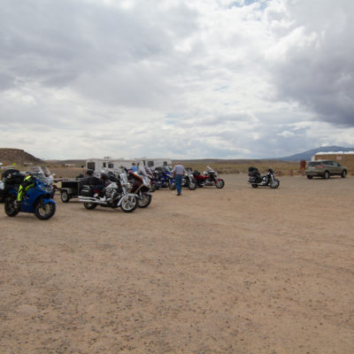 lots of bikes at the 4 corners