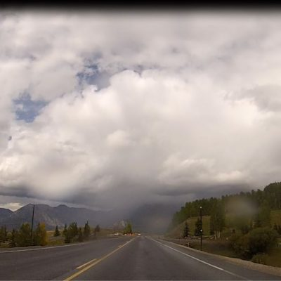 a snap from the video of the ride over lizard head pass today