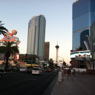 A quick walk outside before the Poker Game to take in some hot desert air.