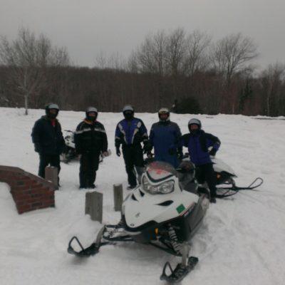 The crew out sledding around the Keweenaw Peninsula