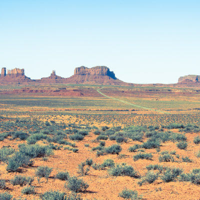 Monument Valley with some color shifting done.