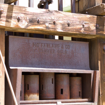 Stamp mill made in Denver in the early 1900's