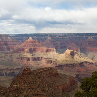 Grand Canyon as some rain was rolling through mid day.