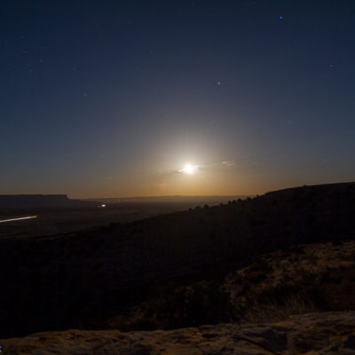 Another night shot. Moon Rise. This was taken at house rock Wash at 11pm in Arizona.  30 second exposure.