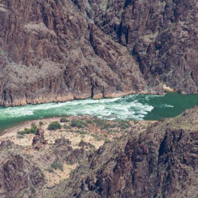 Class 4 rapids on the Colorado river