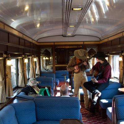 Train ride entertainment