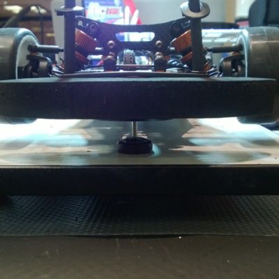 Setup work on the cars early in the week.  Weight balance is key.
