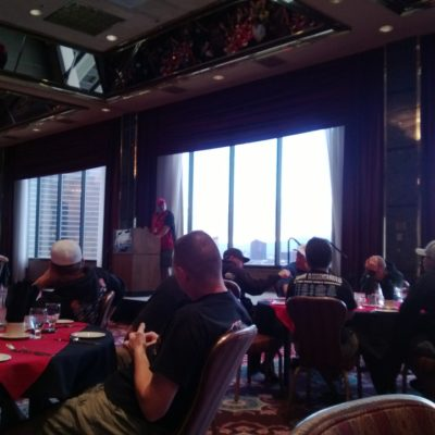Drivers meeting and dinner the day before the first day of running.