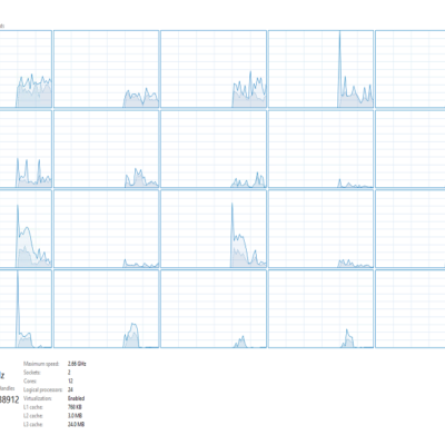 24 threads of fun.  12 physical cores.