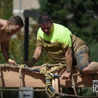 Last obstacle on the course, I was looking forward to the finish.