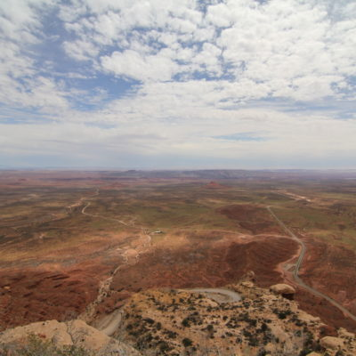 Moki Dugway and the Valley of Gods from above