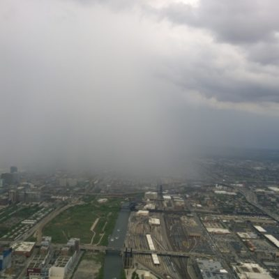 Storm Rolling in toward the Willis Tower