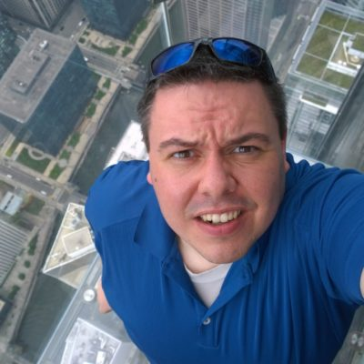 Me over the edge at the Willis Tower