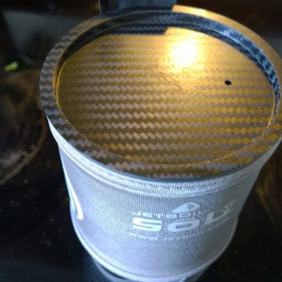 Carbon Fiber lid for the pot.  Because Carbon Fiber.