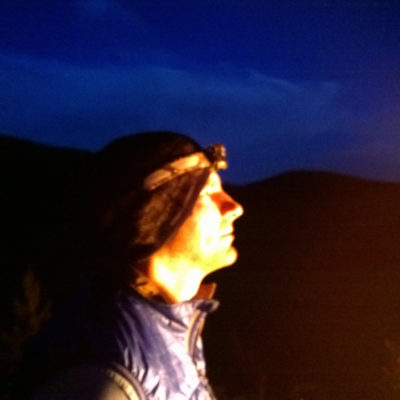 Travis looking at the stars at night