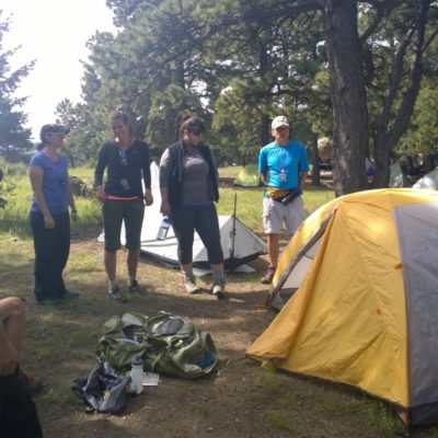 Parade of Homes in a tent city