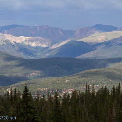 Buildings near Breck down in the valley below