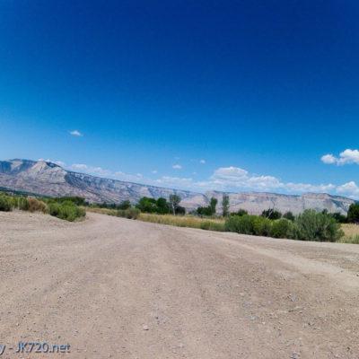 Riding on mining roads toward Battlement Mesa/Parachute