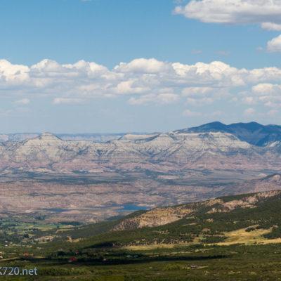 View from Powderhorn Ski Resort looking north toward Grand Valley