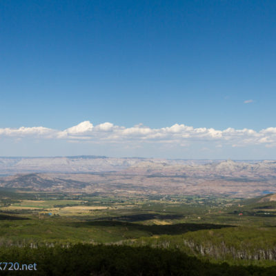 View from Powderhorn  Ski Resort of Grand Valley.