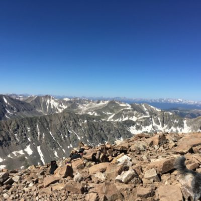 Looking at the Collegiate Peaks from the summit