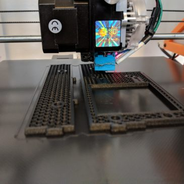 Printing with CarbonX,  Linear motion parts are in.