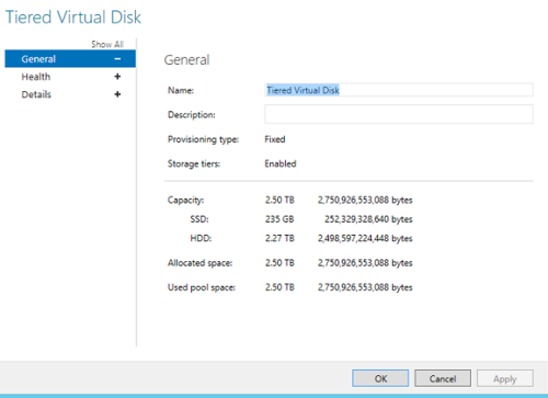 Storage Tiering  – Server 2012 R2 killer apps.