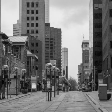 A small walk through the vacant streets of downtown Denver during a pandemic